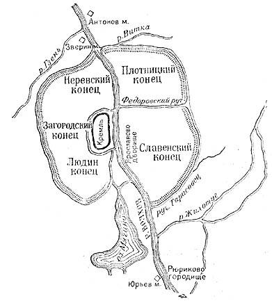 Топографическая схема древнего
