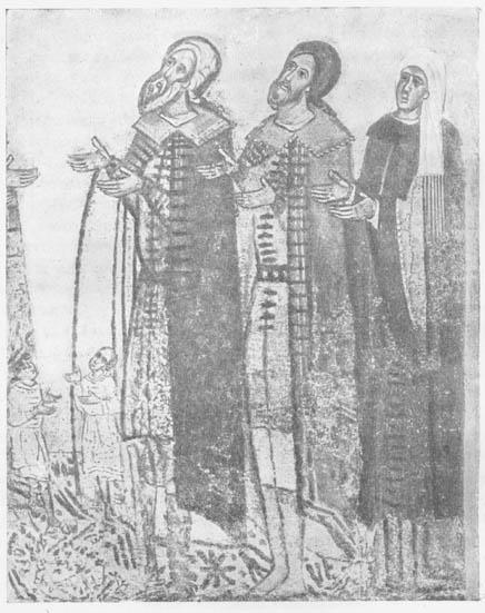 Одежды новгородских бояр XV в.
