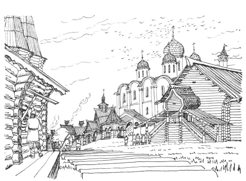 Соборная площадь в кремле в