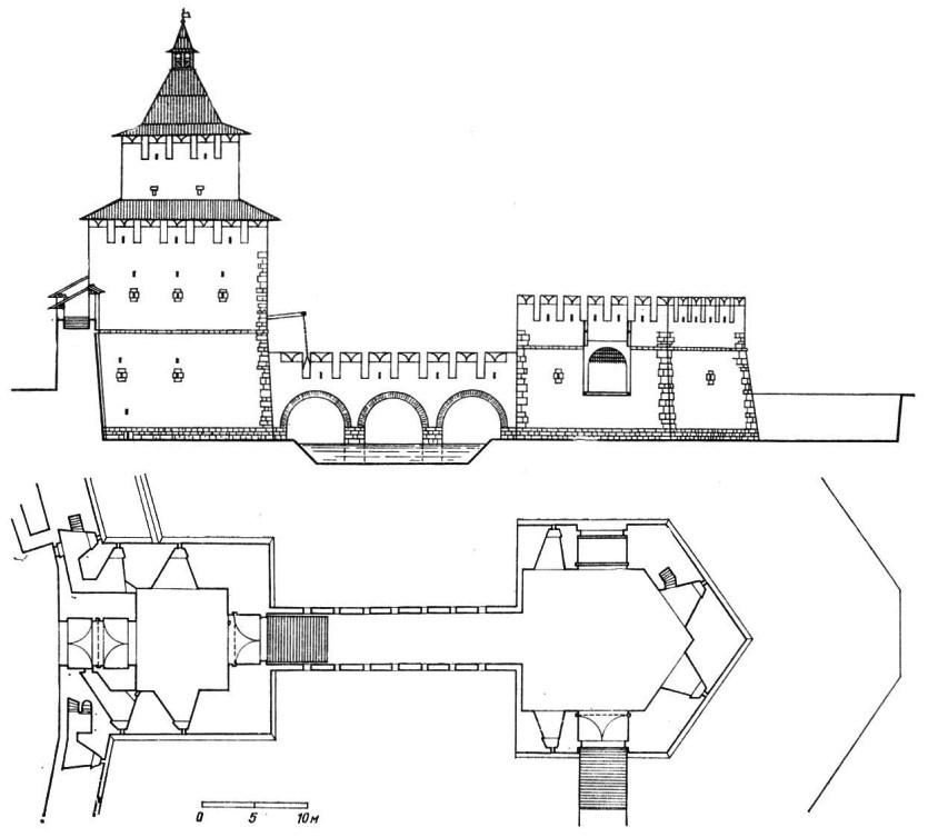 Дмитровская башня, боковой