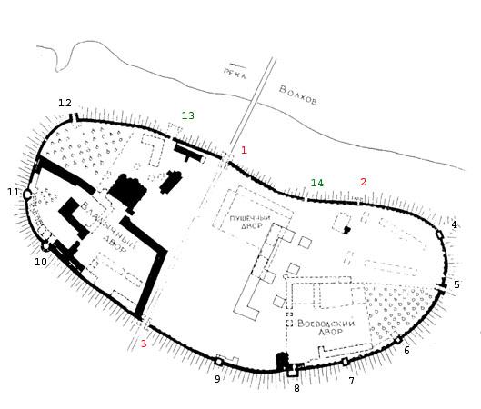 План кремля на рубеже XVII